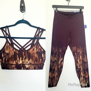 NWT Joylab  2 piece shine bra and leggings